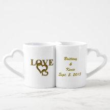 Custom Bride Groom Love Heart Lovers Mugs