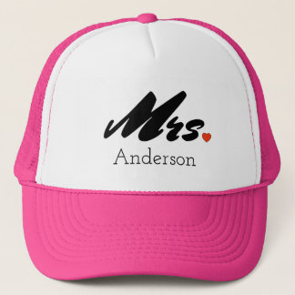 Custom Bride Mrs. Trucker Hat Cap
