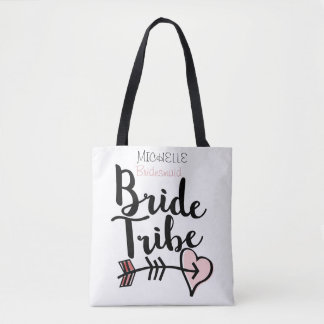 Custom bride tribe tote bag