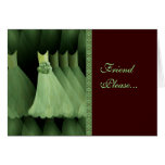 Custom Bridesmaid Invitation MINT Gowns CHOCOLATE Greeting Cards