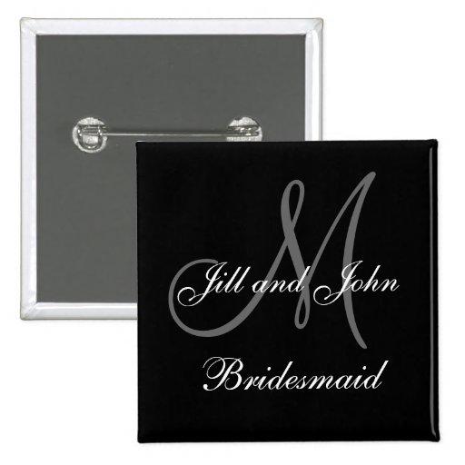 Custom Bridesmaid Wedding Party Buttons