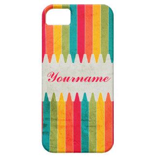 Custom Bright Crayons iPhone SE/5/5s Case