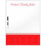 Custom Bright Red Flowers Colorful Baby Notes Dry Erase Whiteboard