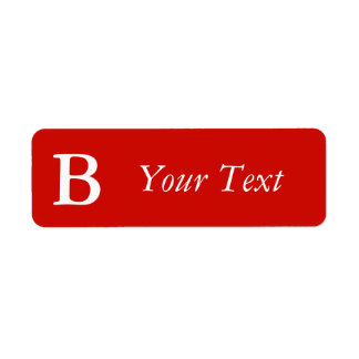 Custom Bright Red Monogrammed Labels or Gift Tags