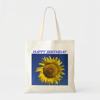 Custom Bright Sunflower Tote Bage by creativeconceptss at Zazzle