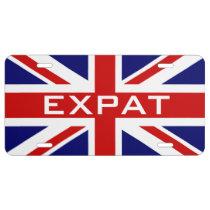 Custom British Union Jack car license plate