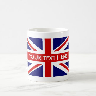 Custom British Union Jack flag coffee mugs