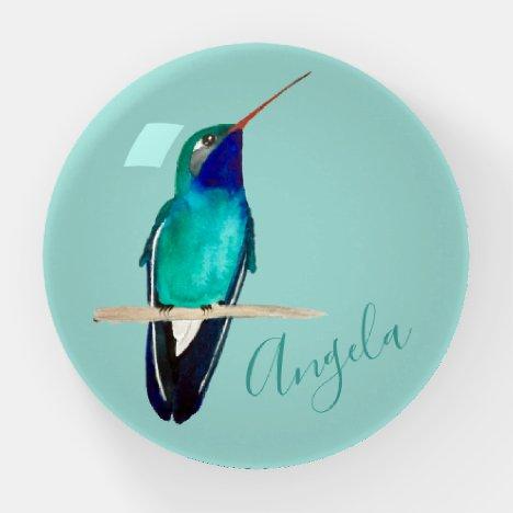Custom Broad-billed Hummingbird Paperweight