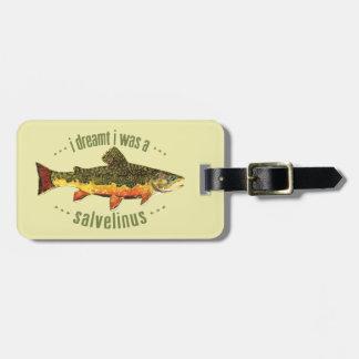 Custom Brook Trout Fishing Bag Tags