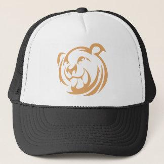 Custom Brown Bear Logo Trucker Hat