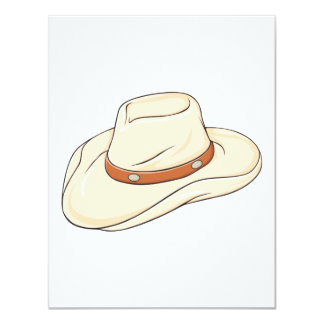 Custom Brown Bolo Cowboy Hat Invitation Postage