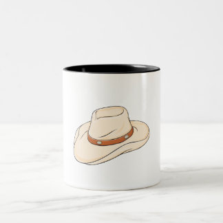Custom Brown Bolo Cowboy Hat Mugs Bags Buttons Pin