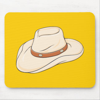 Custom Brown Bolo Cowboy Hat Playing Cards Pillows Mouse Pad