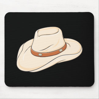 Custom Brown Bolo Cowboy Hat Playing Cards Pillows Mousepad