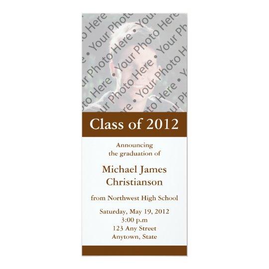 Custom Brown Graduation Announcement or Invitation