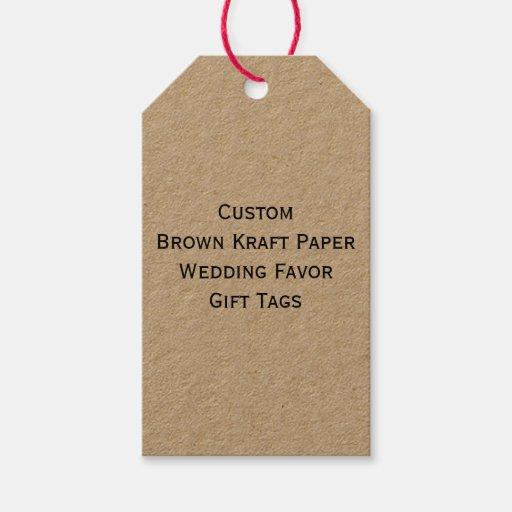 Custom Brown Kraft Paper Wedding Favor Gift Tags Zazzle