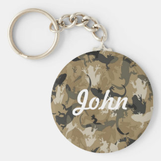 Custom Brown Reptile Camouflage Key Chain