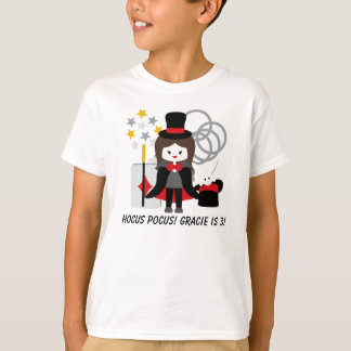 Custom Brunette Girl Hocus Pocus Magic T-shirt