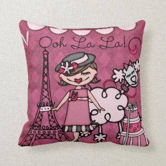 Custom Brunette Paris Diva Pillow