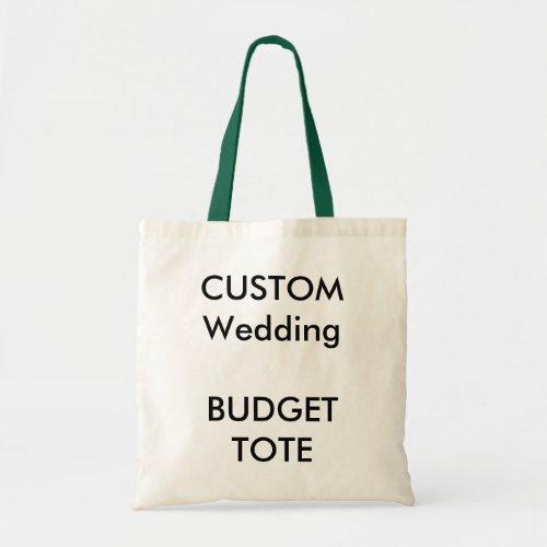 Custom Budget Tote Bag HUNTER GREEN Color Handles