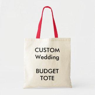 Custom Budget Tote Bag (RED Color Handles)