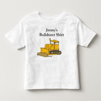 custom bulldozer construction toddler t-shirt