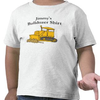custom bulldozer construction tee shirts