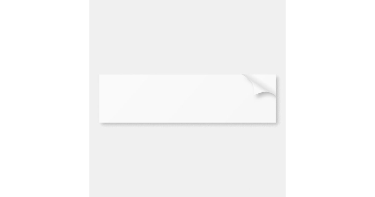 custom bumper sticker zazzle. Black Bedroom Furniture Sets. Home Design Ideas