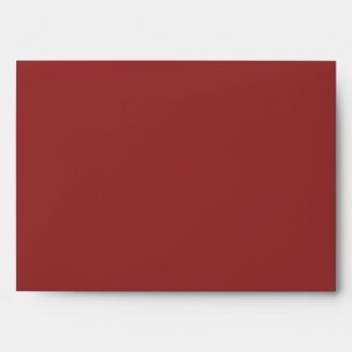Custom Burgundy Envelope with Return Address