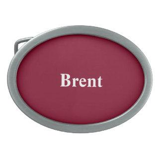 Custom Burgundy Gift Monochromatic Oval Belt Buckle