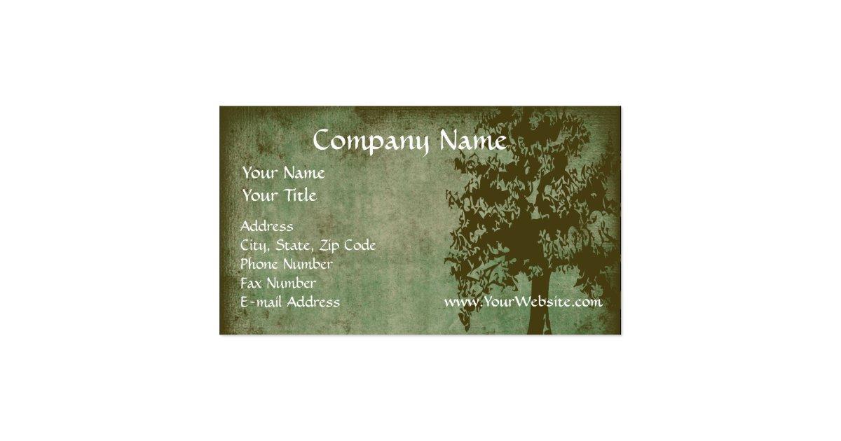 Custom Business Card Design line Green Eco Tree