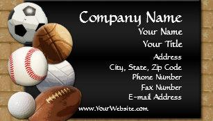 Sports business cards zazzle custom business card design online sports theme business card colourmoves