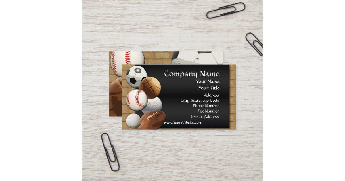 Custom Business Card Design Online Sports Theme Business