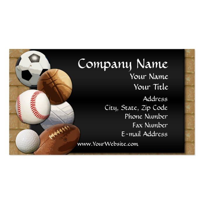 Custom Business Card Design line Sports Theme Business