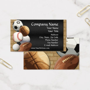 Sports theme business cards templates zazzle custom business card design online sports theme business card reheart Choice Image