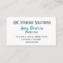 Custom business card Ovarian Cancer Awareness