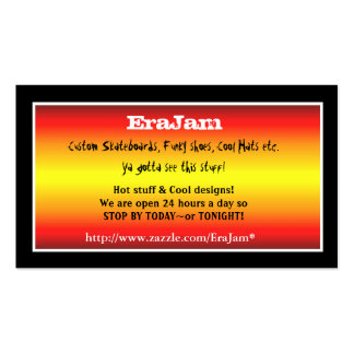 Custom business cards black with red stripes