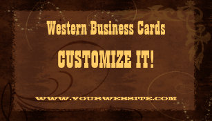Western themed business cards templates zazzle custom business cards country western colourmoves