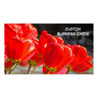 Custom Business Cards Red Tulip Flowers nature