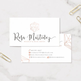 Custom Business Cards: Rosa M Business Card