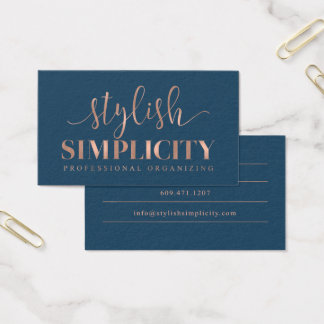 Custom Business Cards: Stylish Simplicity Business Card