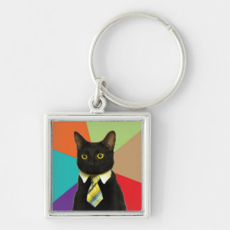 Custom Business Cat Keychain