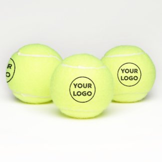 Custom Business Company Logo 2 Side Branded Tennis Balls