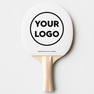 Custom Business Company Logo and Website Branded Ping Pong Paddle