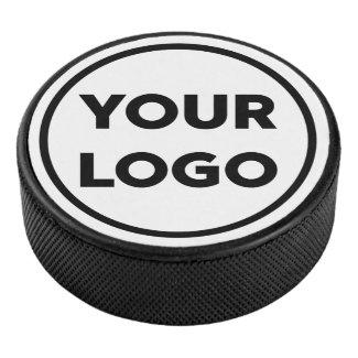Custom Business Company Logo Branded Hockey Puck