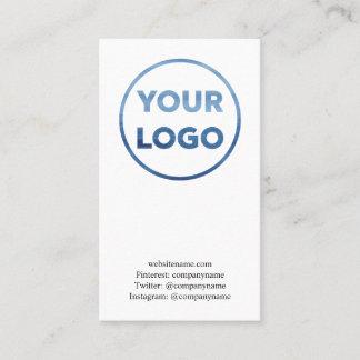 Custom Business Company Logo Minimal Business Card