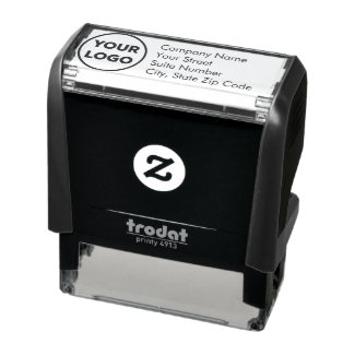 Custom Business Company Logo Return Address Self-inking Stamp