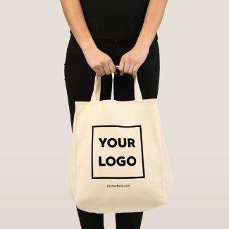 Custom Business Logo and Company Website 2-sided Tote Bag