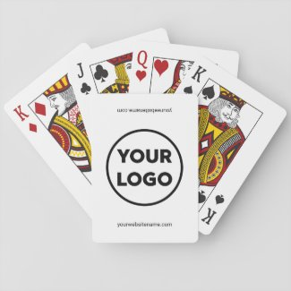 Custom Business Logo and Company Website Playing Cards
