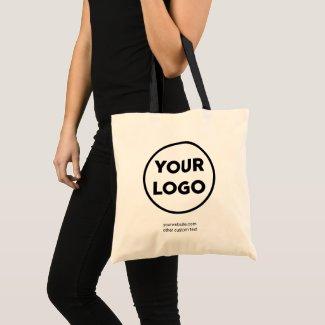 Custom Business Logo and Custom Text 2-sided Tote Bag